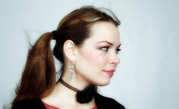 kvinna för 20 stående s Fotografering för Bildbyråer