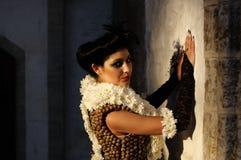 kvinna för 20-talstilbrunett Royaltyfri Fotografi