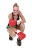 kvinna för 3 boxare Arkivfoto