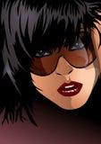 kvinna för 3 solglasögon royaltyfri illustrationer