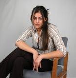 kvinna för 4 affär Arkivbild