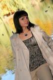 kvinna för 45 höst Royaltyfri Fotografi