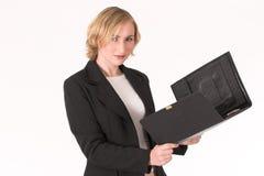 kvinna för 6 affär arkivbild