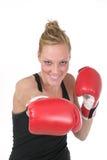 kvinna för 6 boxare Arkivbild
