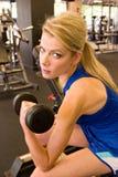 kvinna för 6 weightlifter Royaltyfri Fotografi