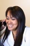 kvinna för affärscelltelefon Royaltyfria Bilder