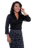 kvinna för affärscelltelefon arkivfoto