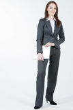 kvinna för affärsdator Arkivbilder