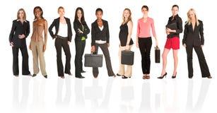 kvinna för affärsgrupp Arkivbild