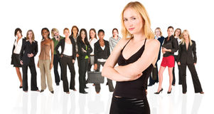 kvinna för affärsgrupp royaltyfri fotografi