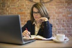 kvinna för affärskontor Arkivfoton