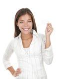 kvinna för affärskort royaltyfria bilder
