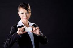 kvinna för affärskort Royaltyfri Bild