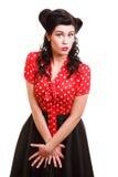 Kvinna för amerikansk stil för utvikningsflicka retro Fotografering för Bildbyråer