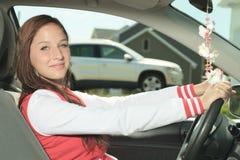 Kvinna för bilchaufför Royaltyfria Foton
