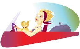 kvinna för bilkörning vektor illustrationer