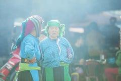Kvinna för etnisk minoritet i solsken Arkivbilder