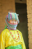 Kvinna för etnisk minoritet, på den gamla Dong Van marknaden Royaltyfria Foton