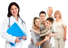 Kvinna för familjdoktor. Hälsovård. Royaltyfri Bild