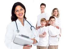 Kvinna för familjdoktor. Hälsovård. Fotografering för Bildbyråer