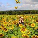 kvinna för fem sun Fotografering för Bildbyråer