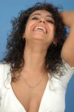 kvinna för framsida s fotografering för bildbyråer