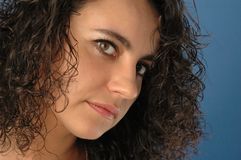 kvinna för framsida s royaltyfria bilder
