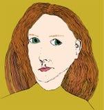 kvinna för framsida s Arkivbild