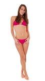 kvinna för full längd för bikini rosa slitage royaltyfri bild