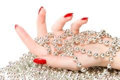 kvinna för glassbeadshandsilver Royaltyfria Bilder