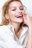 kvinna för granskning s för århundrade för 20 skönhet retrospektiv xx härligt kvinnligbarn Göra perfekt hud Sjukvård perfekt hud Arkivbild