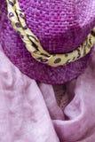 kvinna för hatt s Arkivfoto