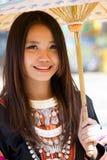 Kvinna för Hmong kullstam. Arkivfoton