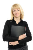 kvinna för holding för dressaffärsmapp Royaltyfri Fotografi