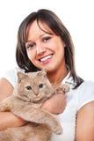 kvinna för kattcoonmaine silver Royaltyfri Bild