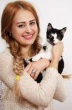 kvinna för kattcoonmaine silver Royaltyfria Bilder