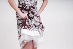 kvinna för klänning s Arkivfoton