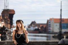 Kvinna för klaffflickatappning i 20-talstil Gdansk Royaltyfri Bild