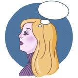 kvinna för konstillustrationpop royaltyfri illustrationer