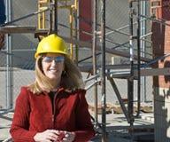 kvinna för konstruktionslokal royaltyfri bild