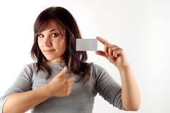 kvinna för kort för affär 11 Royaltyfri Fotografi