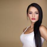 kvinna för lång stående för hår sexig fotografering för bildbyråer
