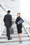 kvinna för lag för affärsman Royaltyfria Bilder