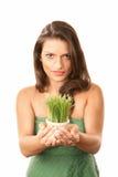 kvinna för latinamerikansk kruka för gräs nätt royaltyfria foton