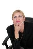 kvinna för ledare för affär 5 tänkande Arkivfoton