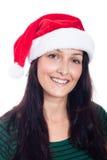 Kvinna för lycklig jul Royaltyfria Foton