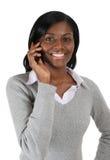 kvinna för mobil telefon för affär talande fotografering för bildbyråer