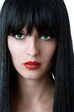 kvinna för modeglamourstående Arkivbild