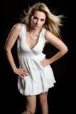 kvinna för modemodell Fotografering för Bildbyråer