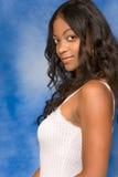 kvinna för mulatt för skönhethår lång royaltyfria bilder